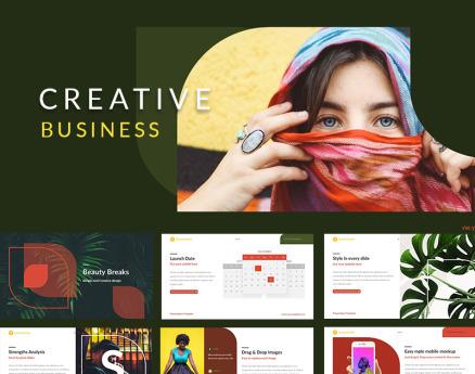 Beauty Breaks Creative Business Keynote Template