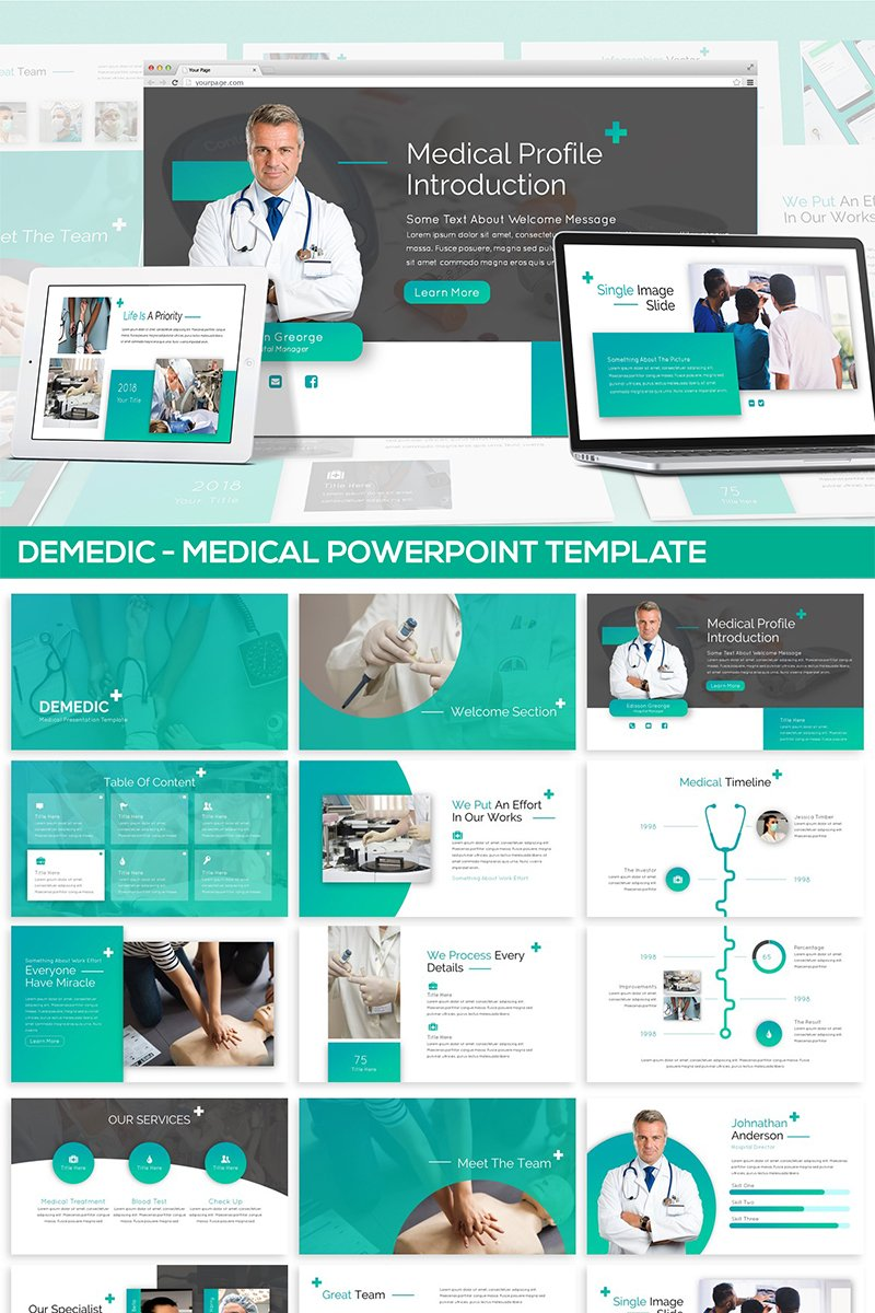 """Demedic - Medical"" PowerPoint Template №82090"