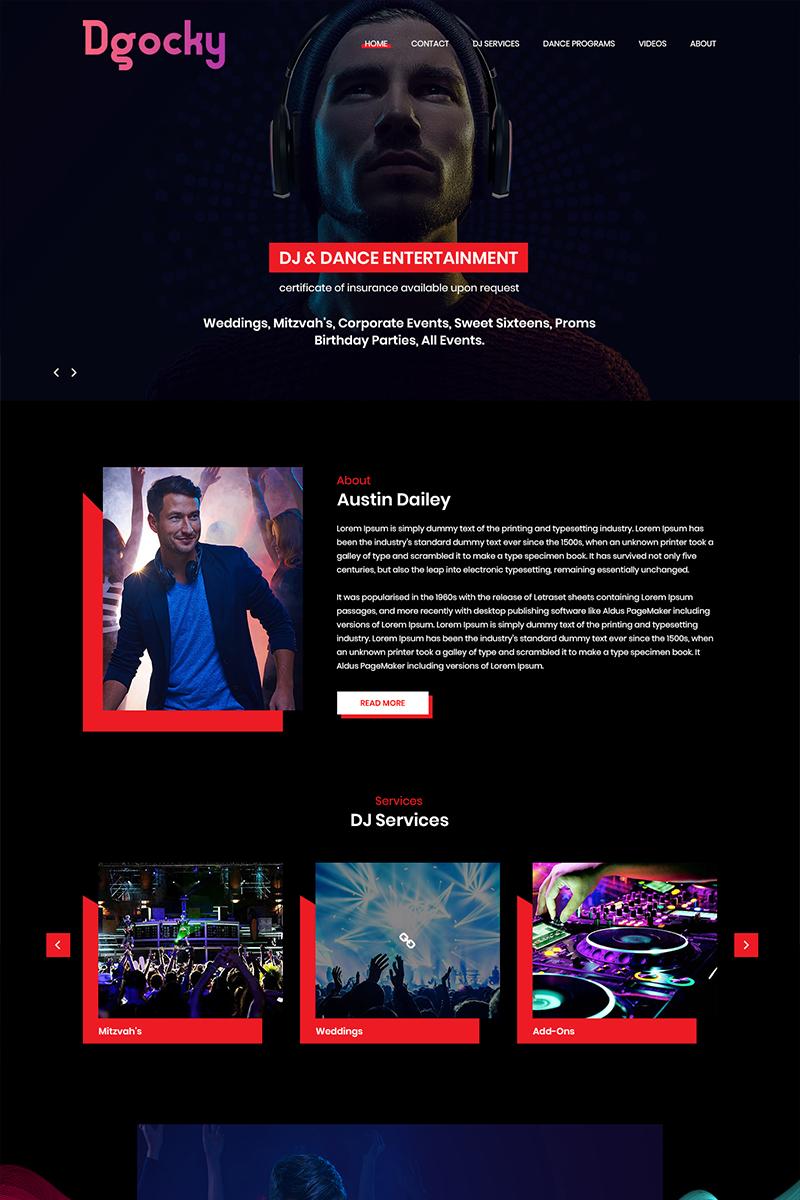 Dgocky - DJ Music PSD Template