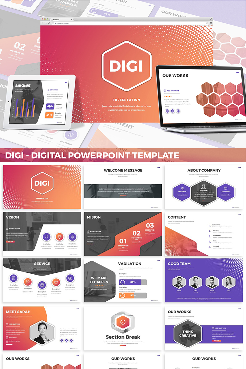 Digi - Digital PowerPoint Template