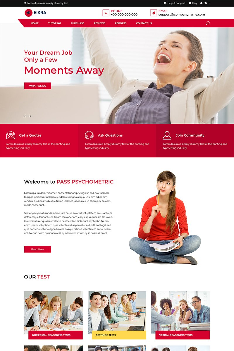 """Eikra - Online Educational"" modèle PSD  #82003"