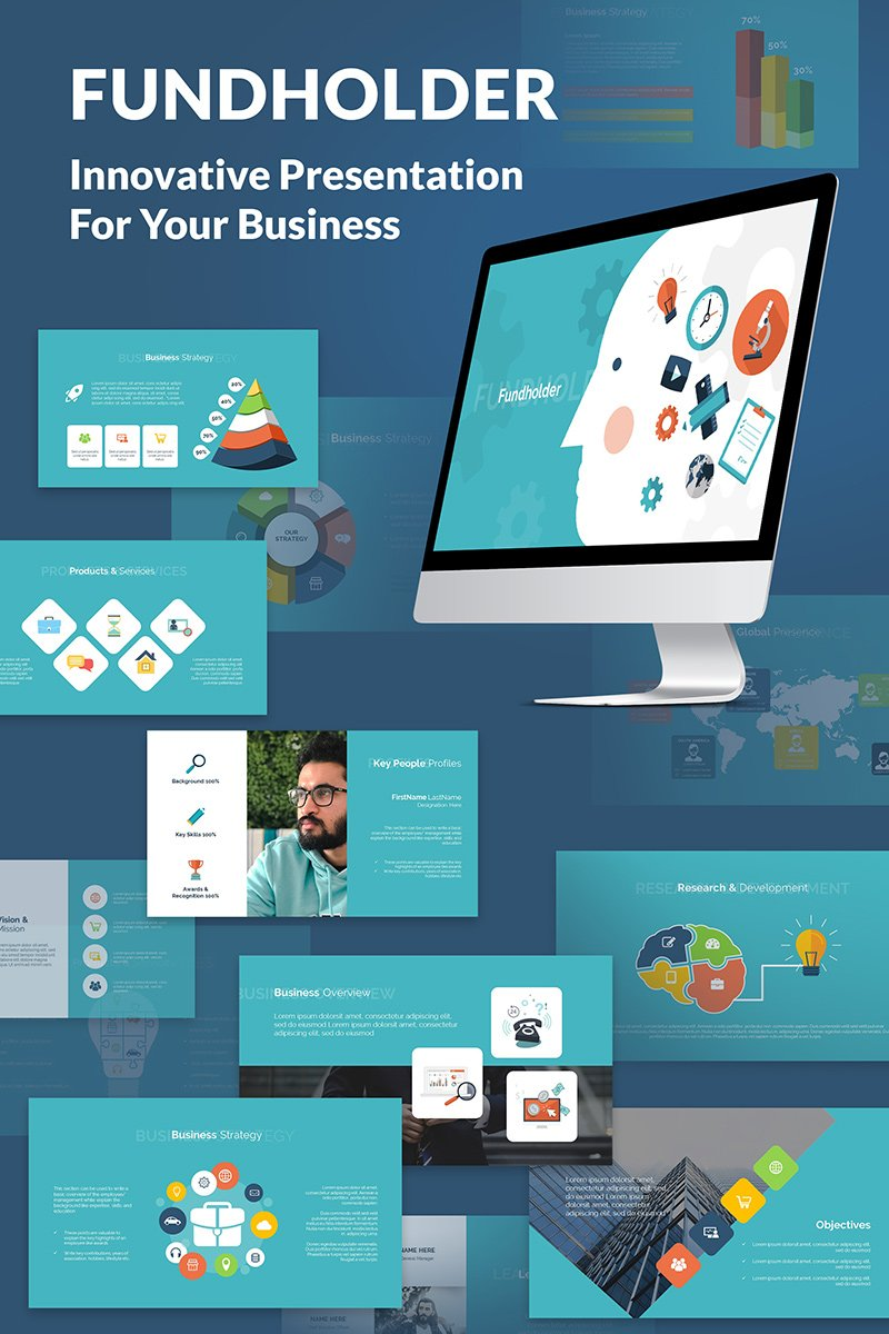 Fundholder Powerpoint Presentation About Business PowerPoint Template