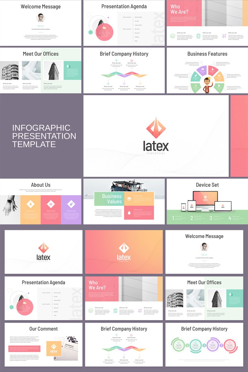 Latex - Business Infographic PowerPoint Template