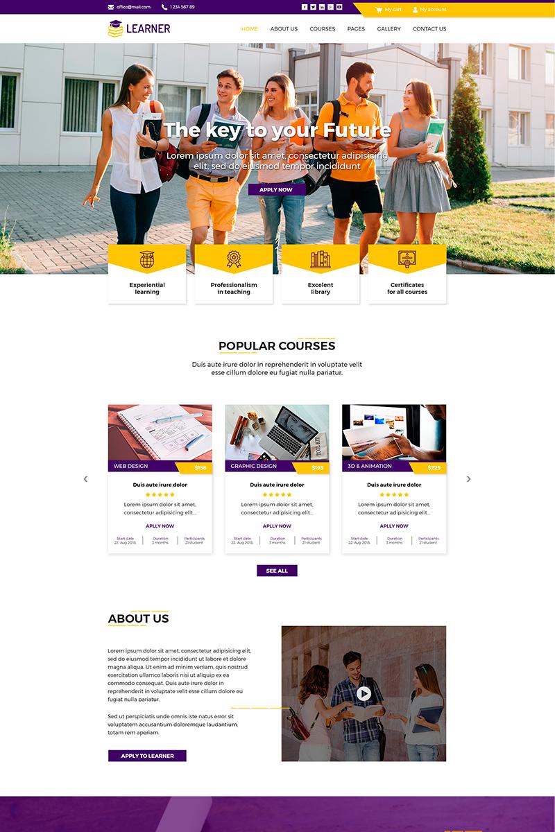 Learner | Education PSD-mall #82036