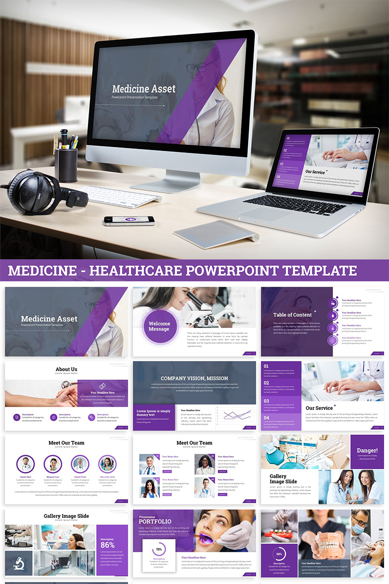 Medicine - Healthcare Template PowerPoint №82037