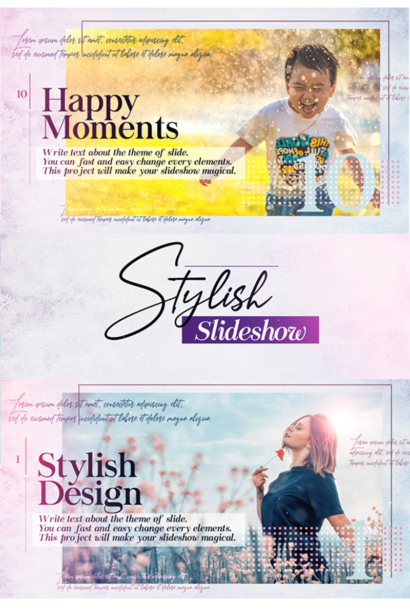 "Modello After Effects Intro #82004 ""Stylish Slideshow"""