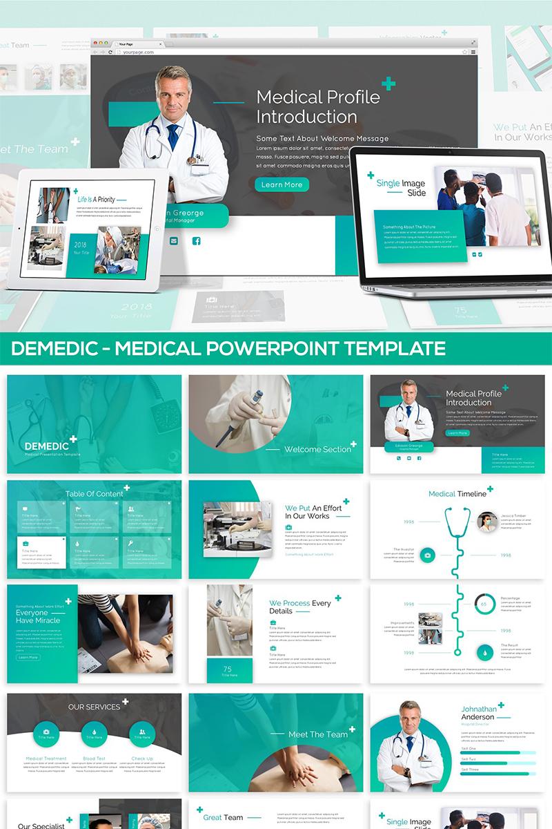 "Plantilla PowerPoint ""Demedic - Medical"" #82090"