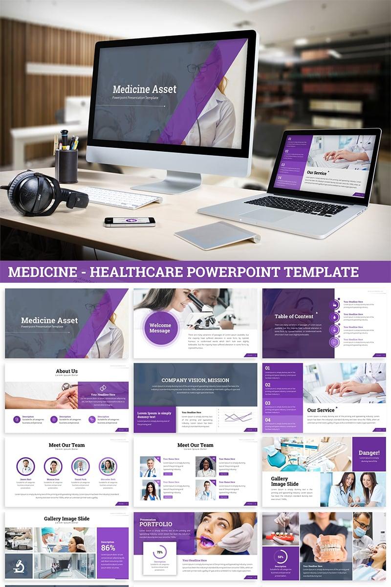 """Plantilla PowerPoint """"Medicine - Healthcare"""" #82037"""