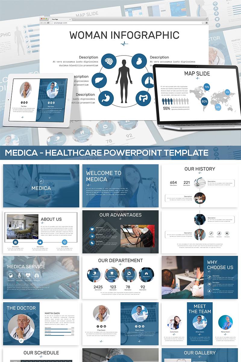 "PowerPoint Vorlage namens ""Medica - Healthcare"" #82044"