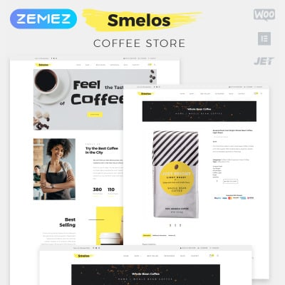 Coffee Shop Responsive WooCommerce Motiv