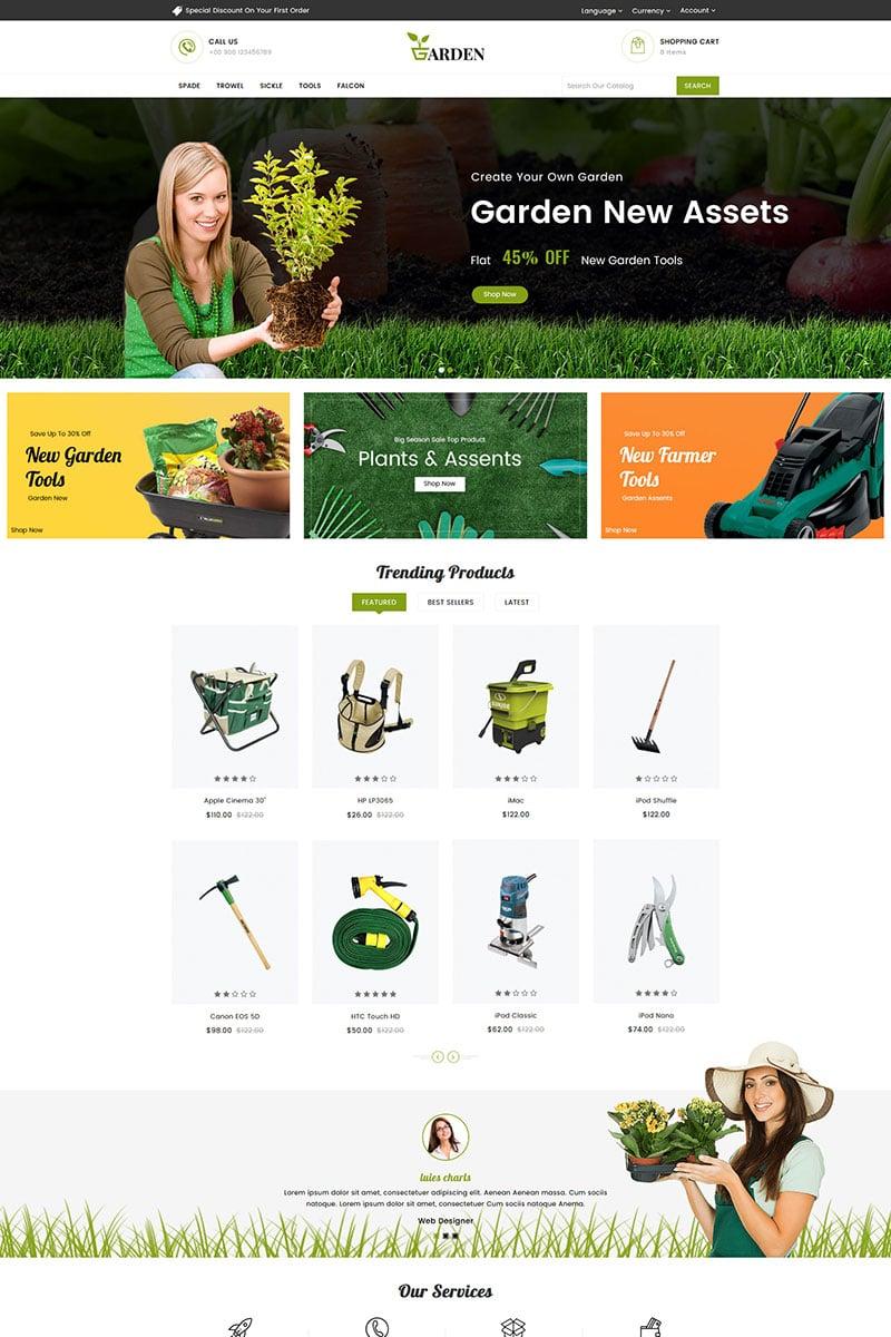 Reszponzív Garden Tools Responsive OpenCart sablon 82035