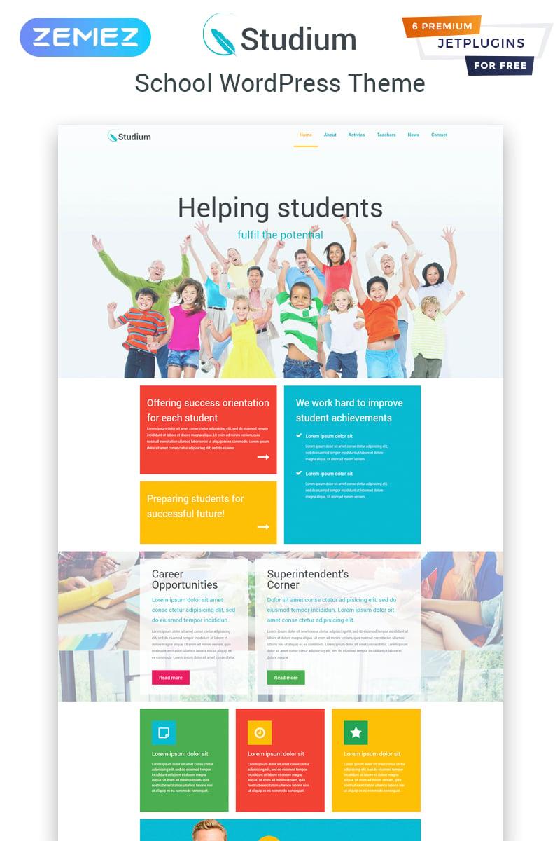 """Studium - Education Multipurpose Modern Elementor"" thème WordPress adaptatif #82065"