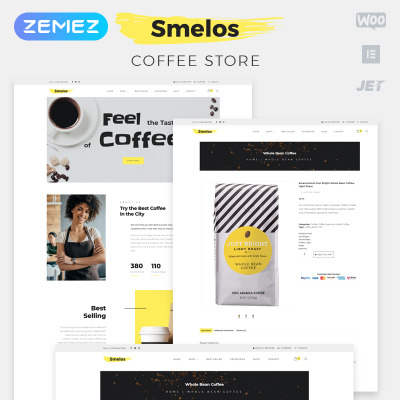 Responsive Tema WooCommerce #82005 para Sitio de  para Tienda de Café