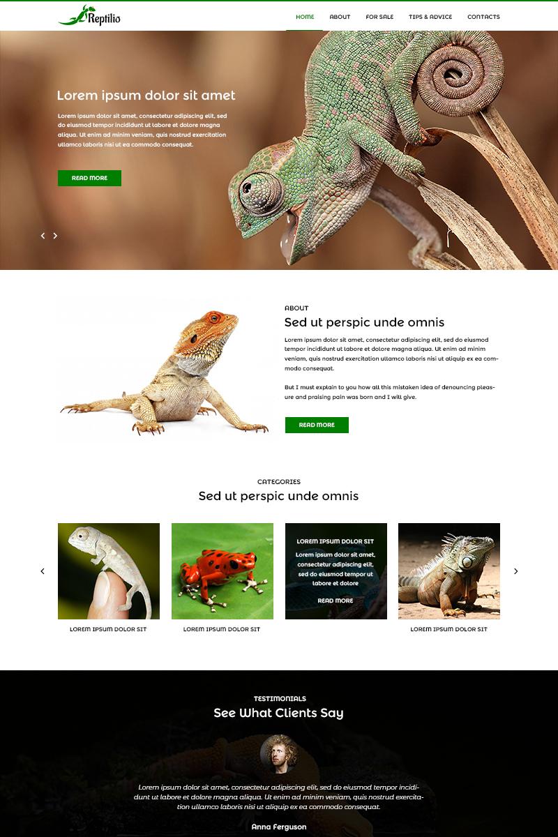 "Template PSD #82012 ""Reptilio - Reptile PSD Template"""