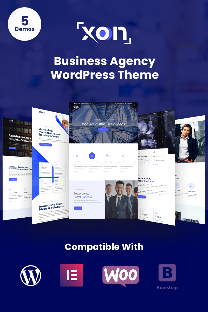 """""""Xon - Business Agency WordPress Theme"""" thème WordPress  #82006"""