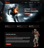 Шаблоны для игровых сайтов. Шаблон сайта 82128