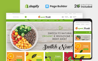Organic World Food and Grocery Store Shopify Theme