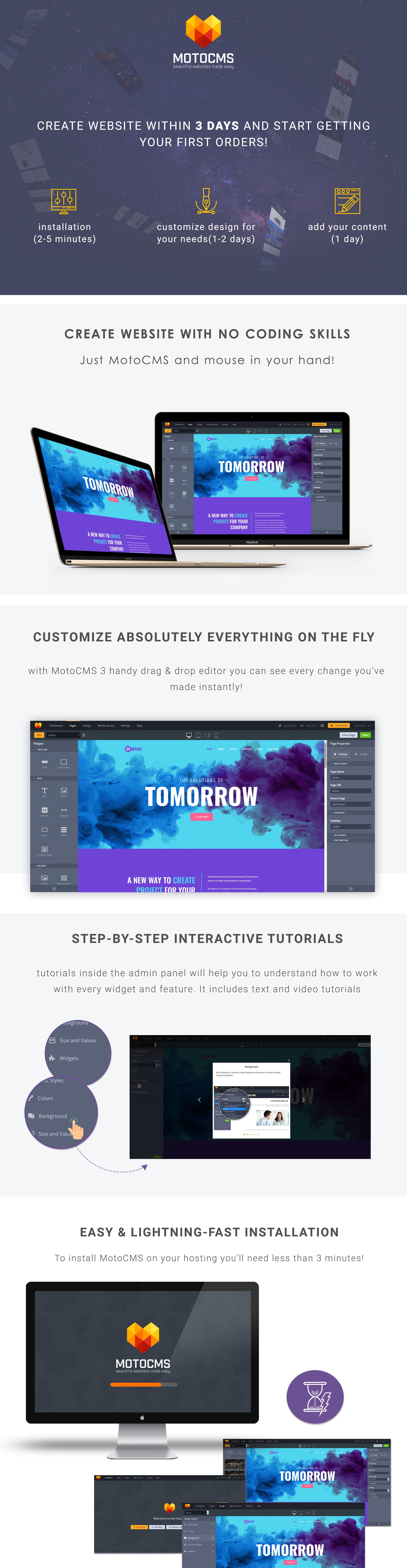 Eventagy - Event Agency Moto CMS 3 Template