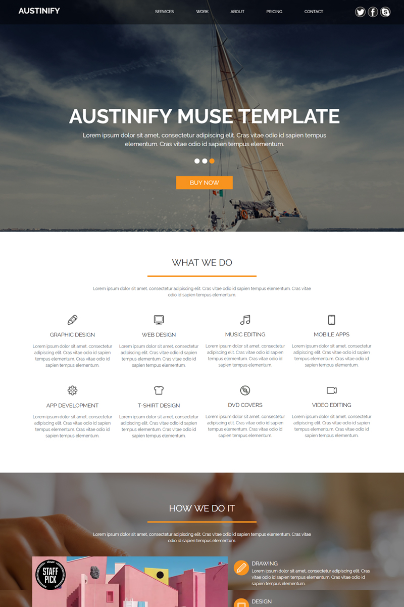 """Austinify - Multipurpose"" Muse Template №82114"