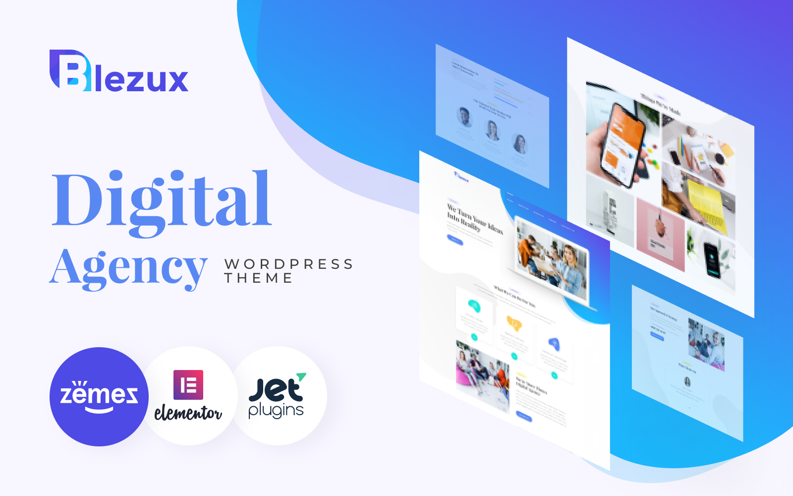 Blezux - Digital Multipurpose Modern Elementor WordPress Theme