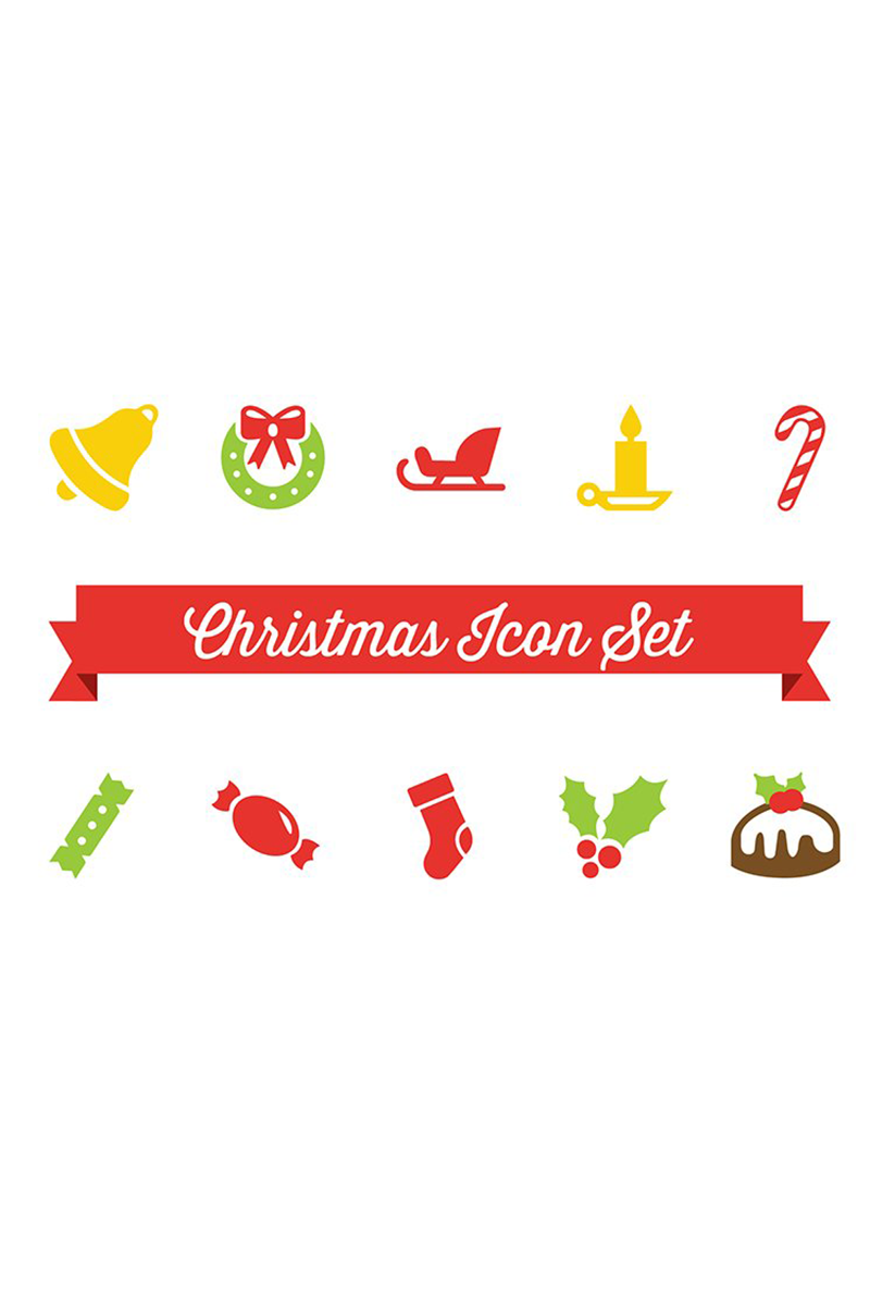Christmas Vector Iconset Template