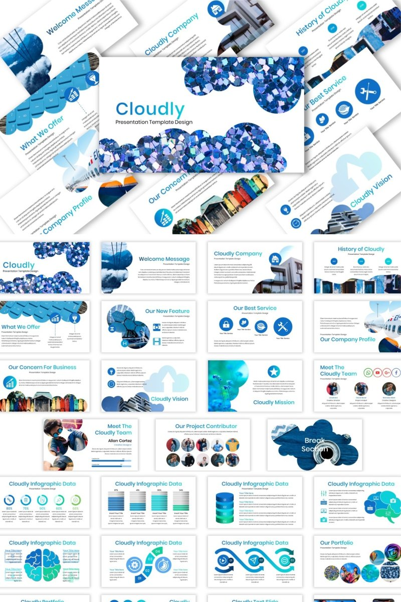 Cloudly PowerPoint Template
