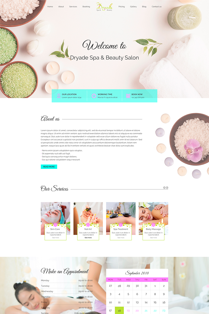 Dryade | Beauty & Spa PSD Template
