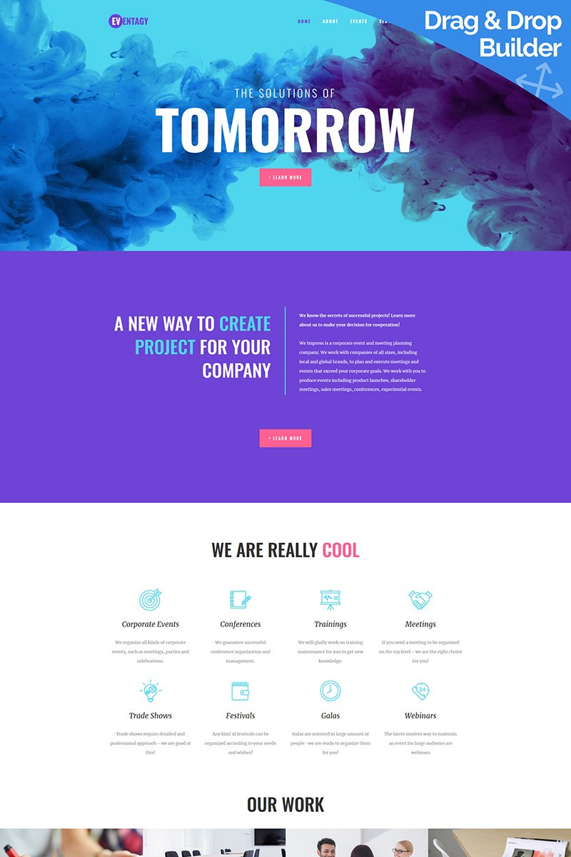 Eventagy - Event Agency Moto CMS 3 Template