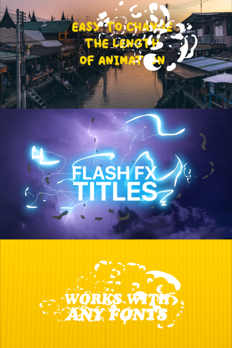 Flash FX Titles | Text Animation For After Effects Intro