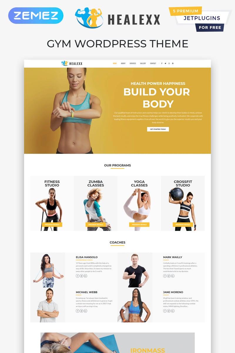 """Healexx - Gym Multipurpose Modern Elementor"" - адаптивний WordPress шаблон №82167"