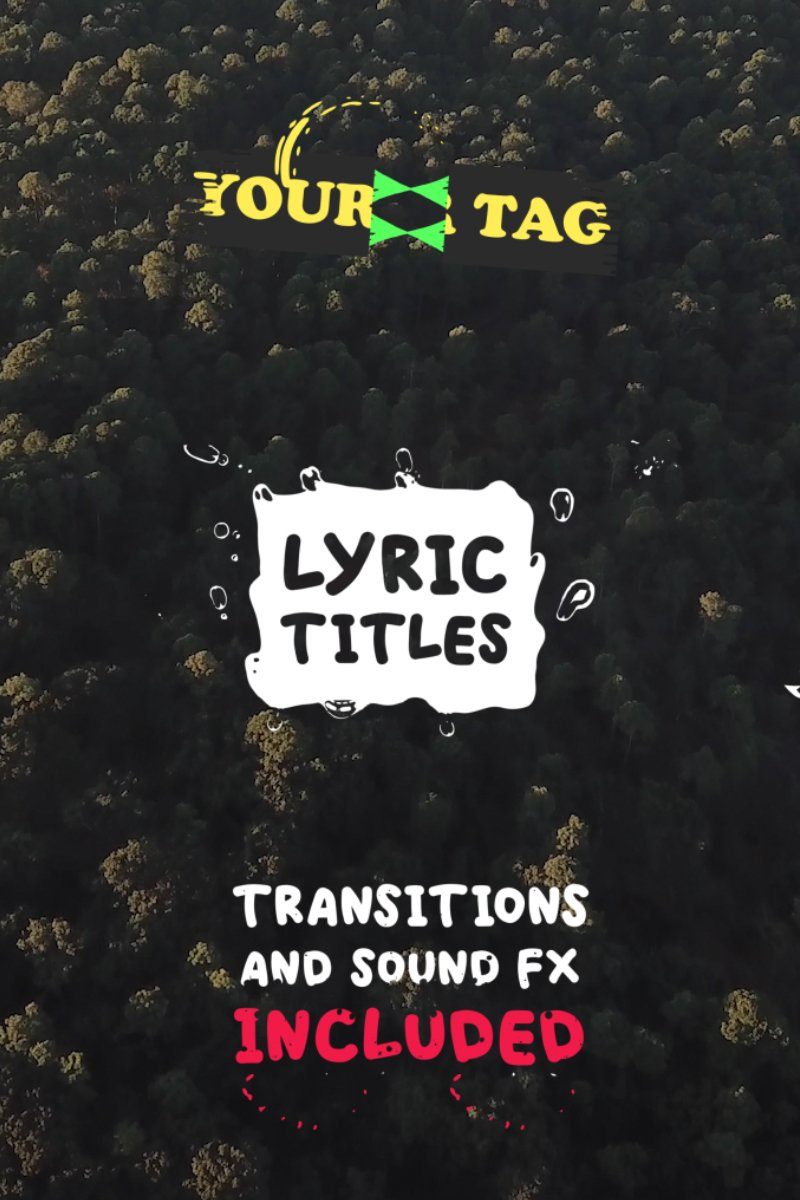 Lyric Titles | Text Animation Template After Effects com Introdução №82120