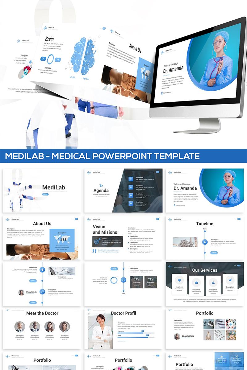 """MediLab - Medical"" PowerPoint Template №82104"