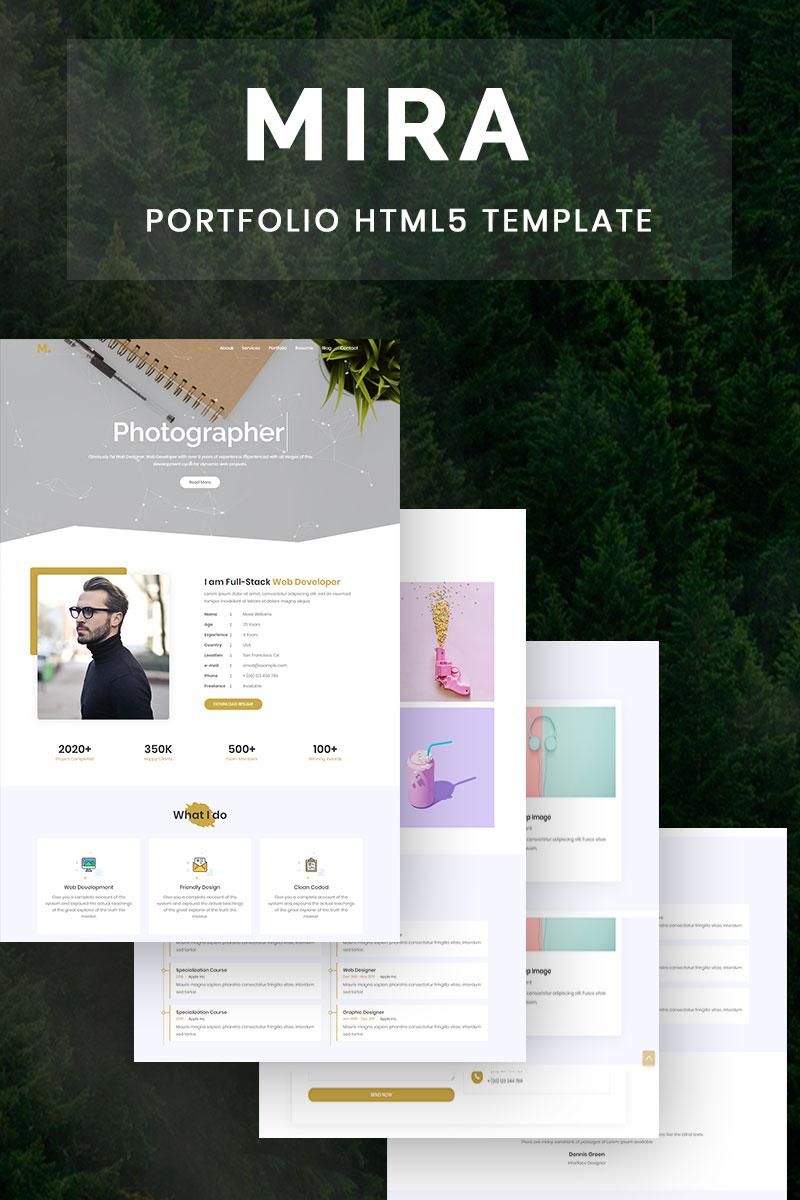 Mira Creative Resume Portfolio Landing Page Template