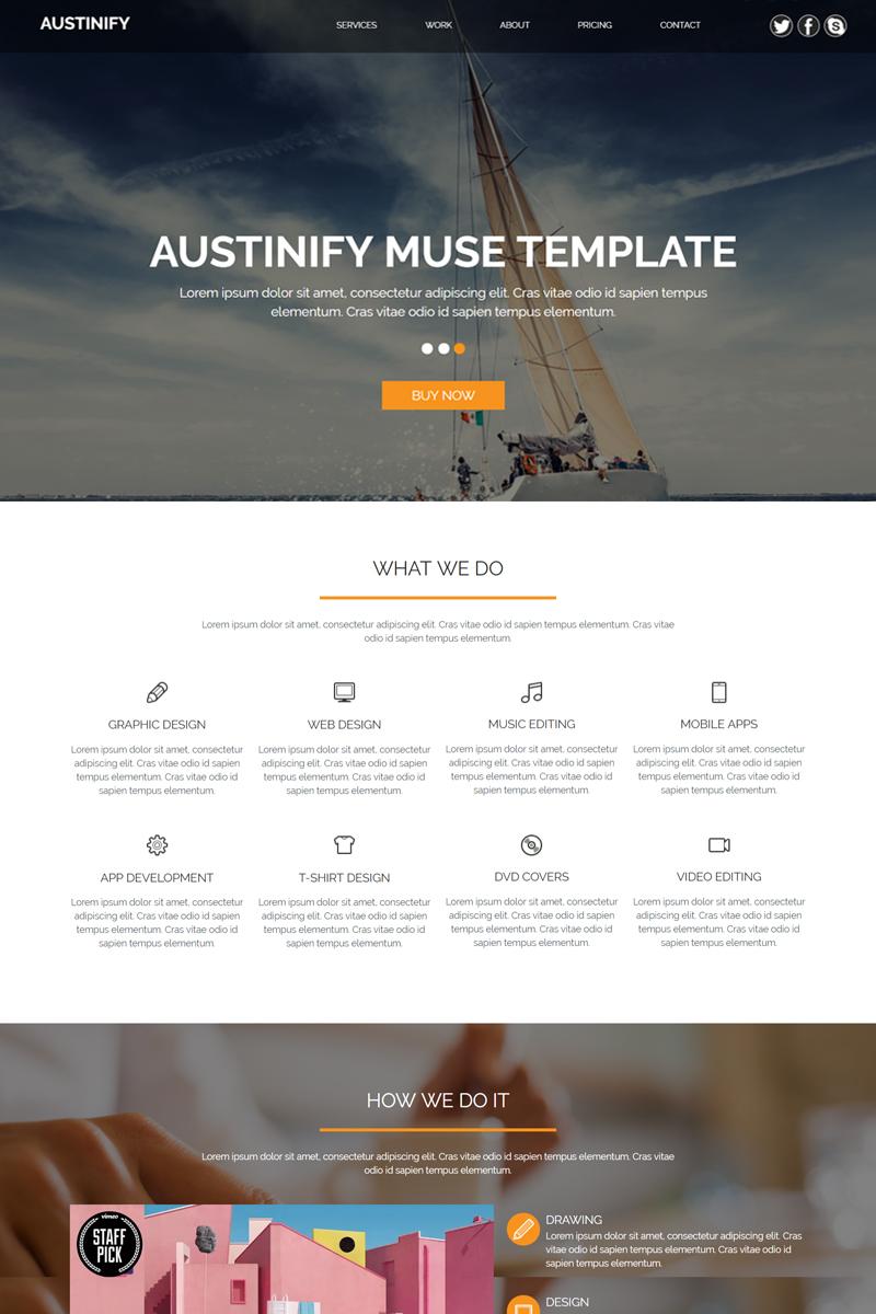"Plantilla Muse ""Austinify - Multipurpose"" #82114"