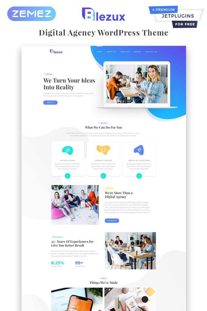 Reszponzív Blezux - Digital Multipurpose Modern Elementor WordPress sablon 82198