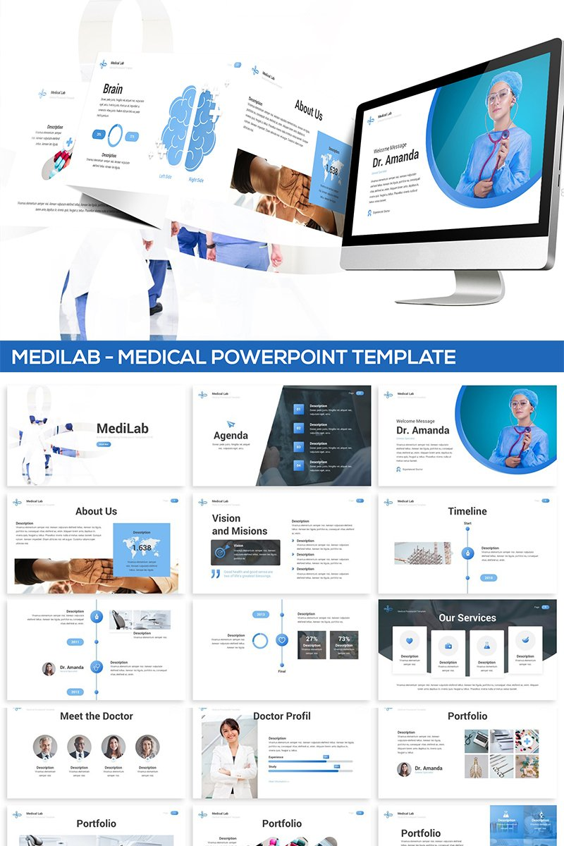 Szablon PowerPoint MediLab - Medical #82104