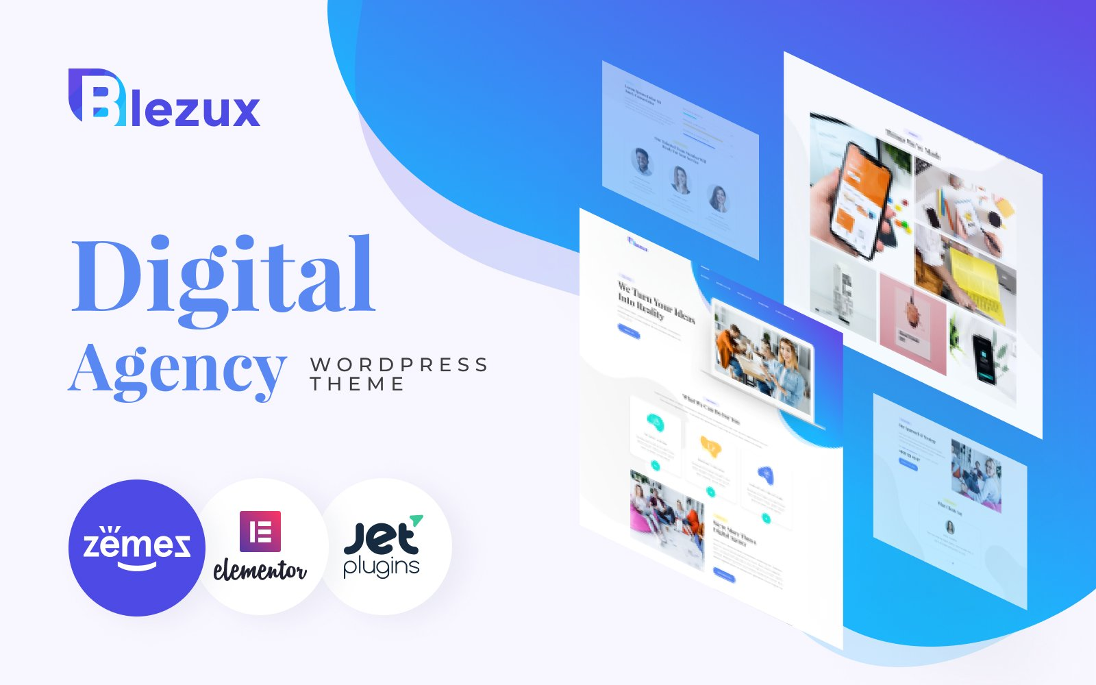 "Tema De WordPress ""Blezux - Digital Multipurpose Modern Elementor"" #82198"