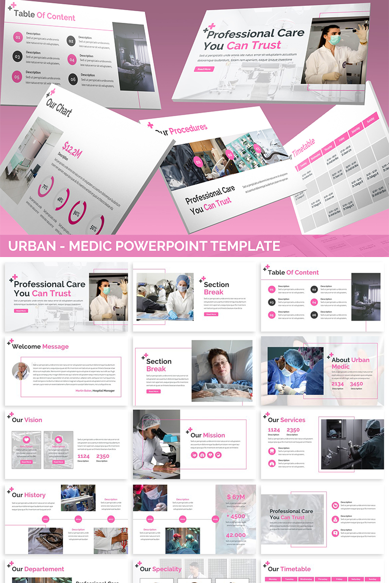 Urban - Medic Template PowerPoint №82131