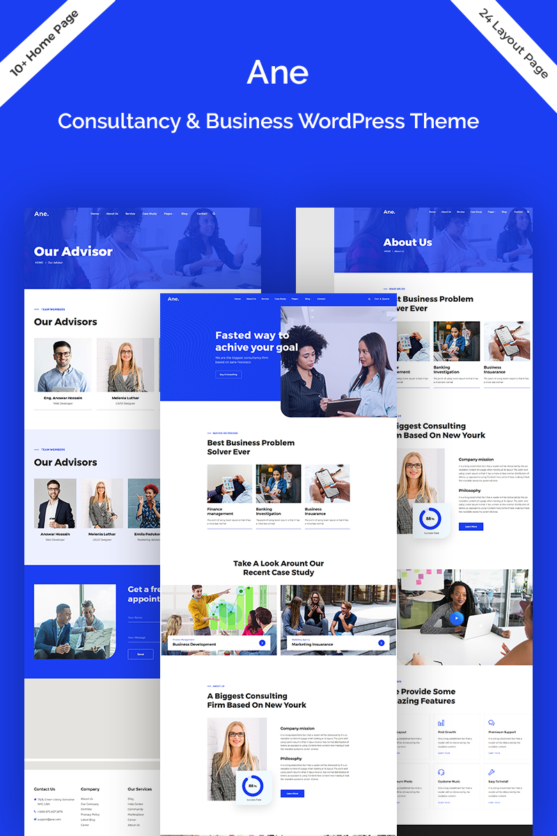 "WordPress Theme namens ""Ane-Business & Consulting"" #82121"