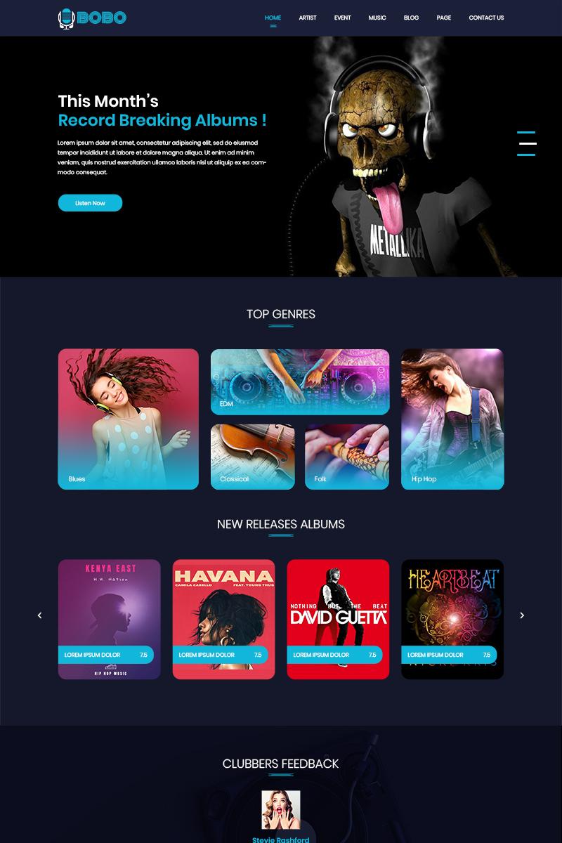 Plantilla para psd - Categoría: Música - versión para Desktop