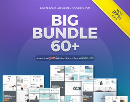 60+ Presentation , Powerpoint , Keynote, Google Slides PowerPoint Template