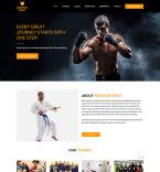 Шаблон сайта 82280 Шаблоны спортивных сайтов