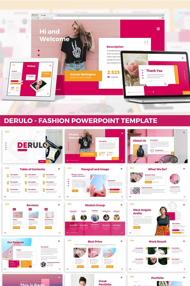 Derulo - Fashion PowerPoint Template