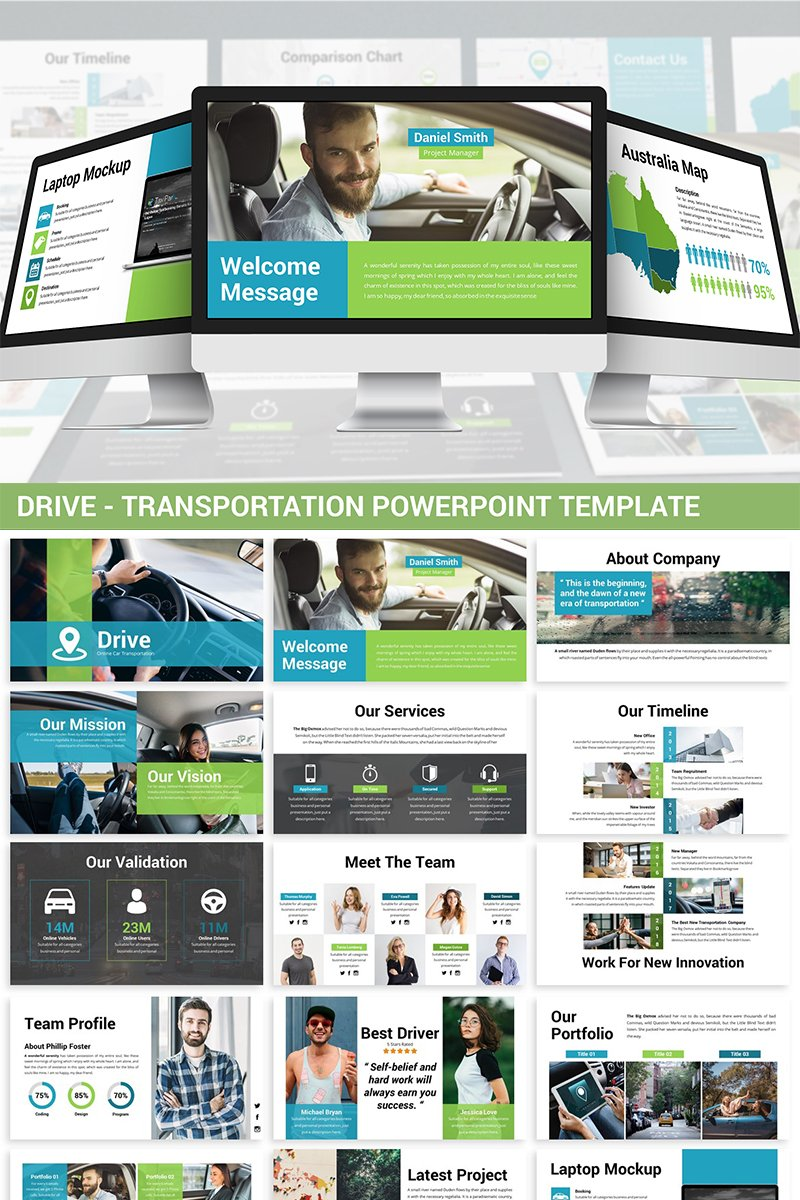Drive - Transportation PowerPoint Template