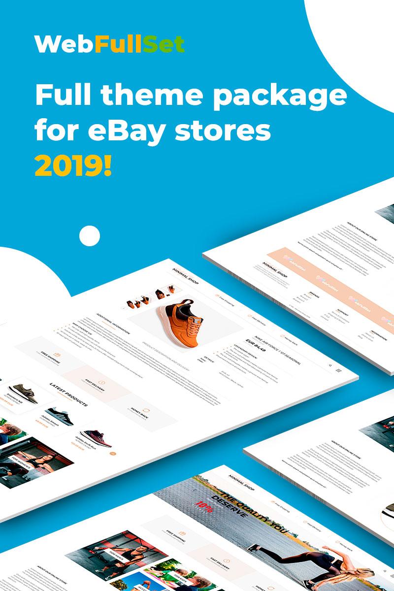 "EBay Vorlage namens ""WebFullSet MinimalShop"" #82298 - Screenshot"