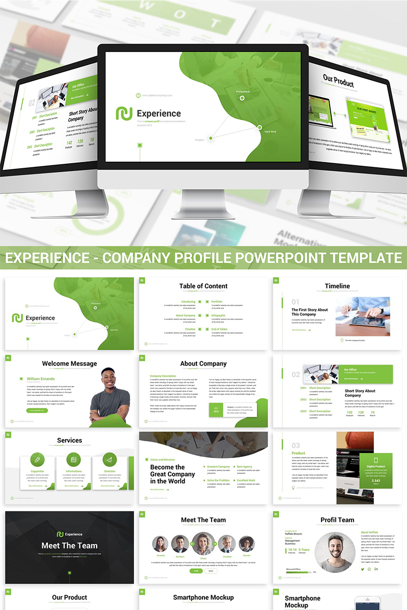 Experience - Company Profile PowerPoint Template