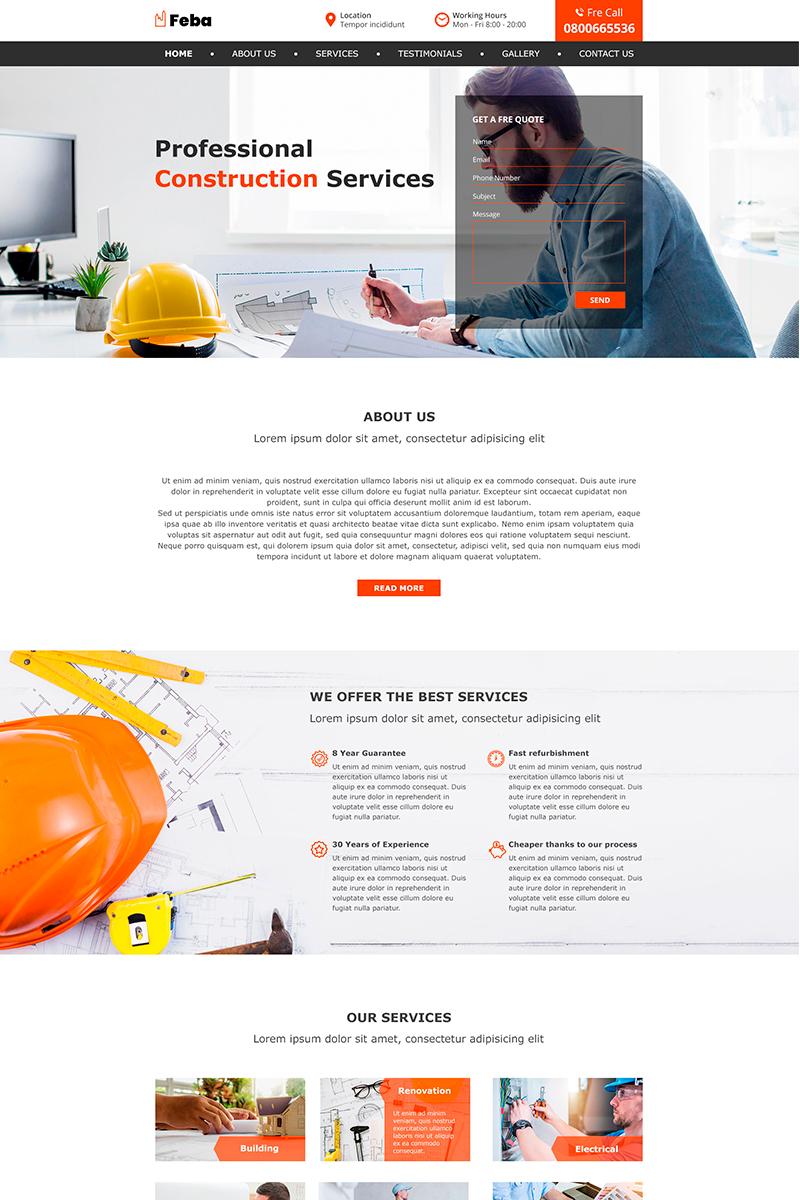 Feba | Construction PSD Template