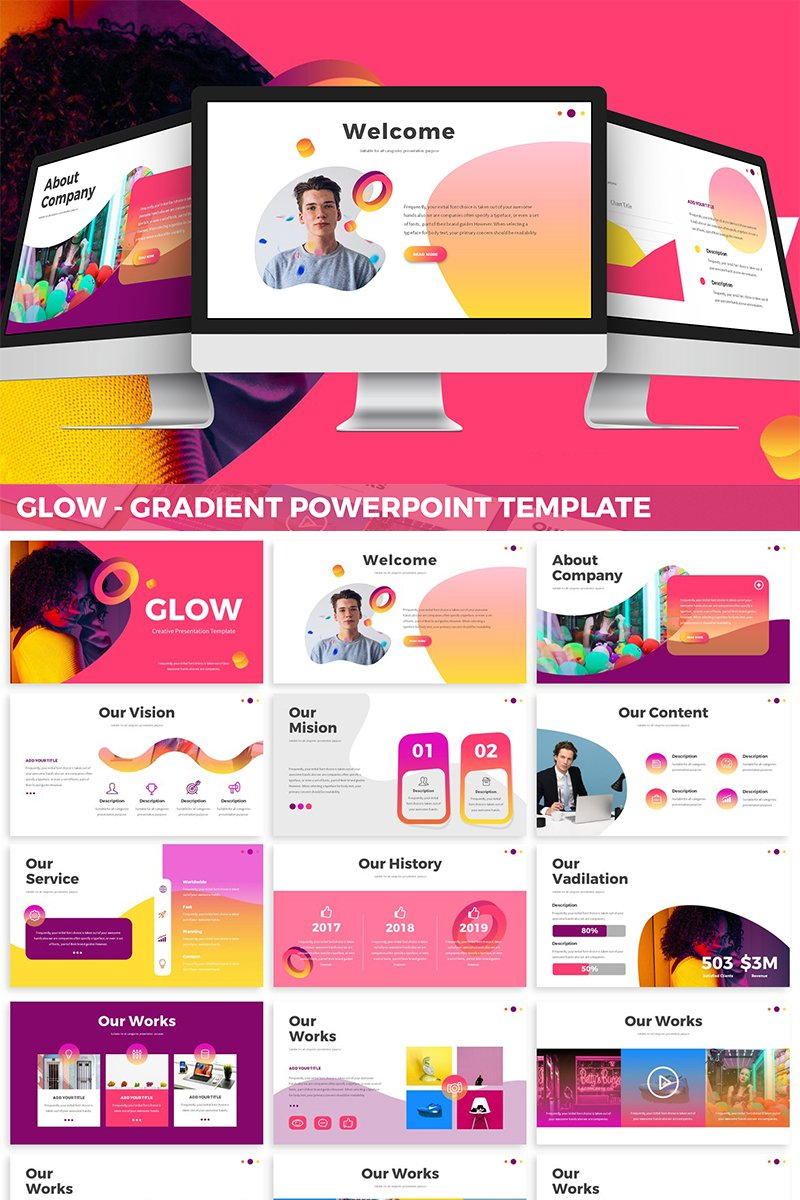 Glow - Gradient PowerPoint Template
