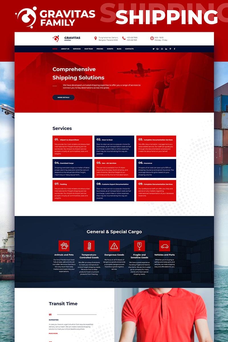 Gravitas - Shipping Company Templates Moto CMS 3 №82288