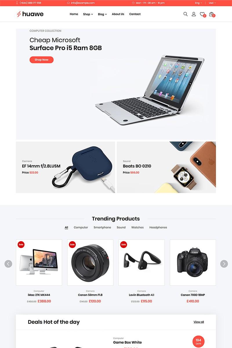 Huawe - Electronics Shop WooCommerce Theme №82217 - скриншот